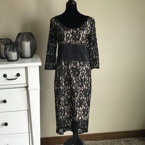New York & Company Eva Mendez black lace dress. 12